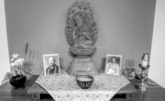Altar im Kanzeon Zen Center Salt Lake City